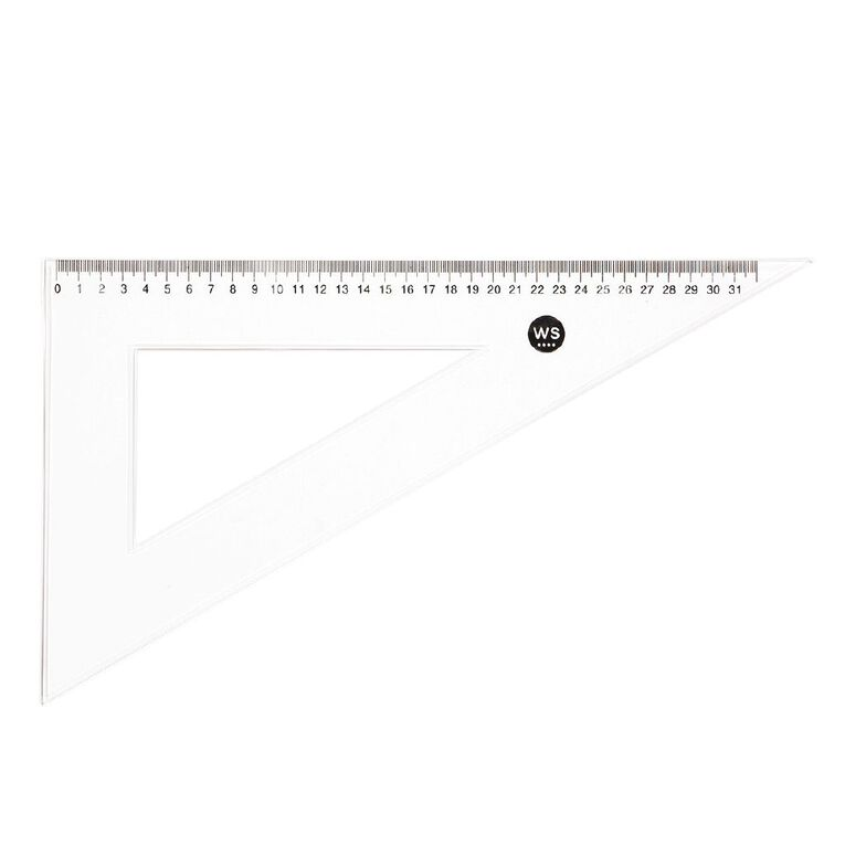 WS Set Square 30 & 60 Degree 32cm Clear, , hi-res
