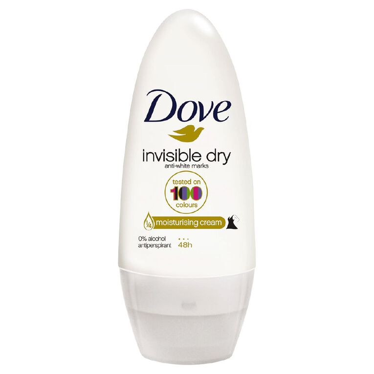 Dove Roll On Deodorant Invisible Dry 50ml, , hi-res