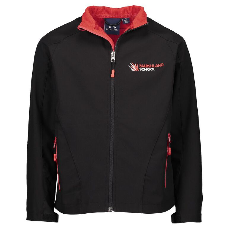 Schooltex Marshland Jacket with Embroidery, Black/Red, hi-res
