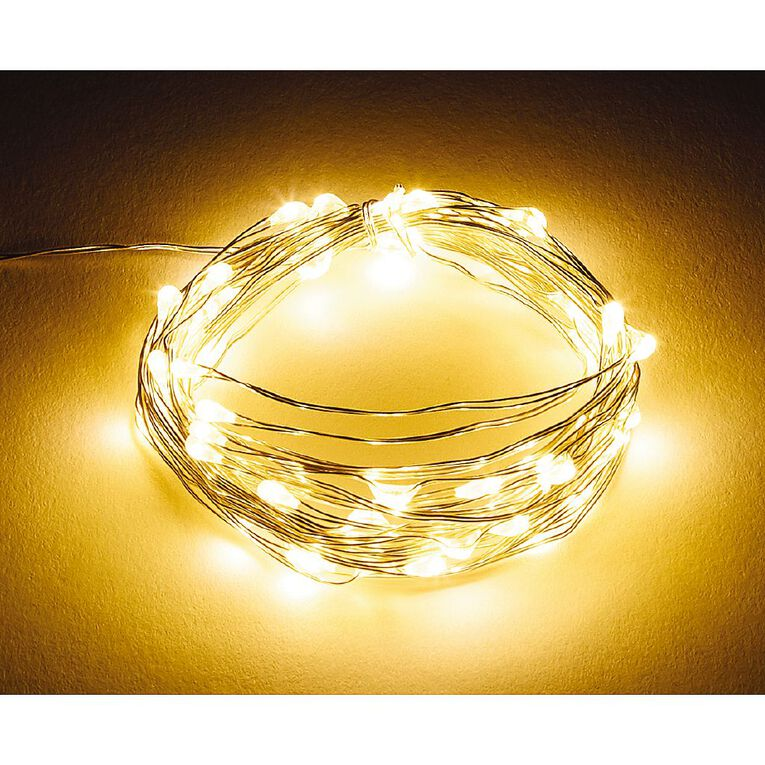 Living & Co Twinkle Light Warm White LED Silver 5m, , hi-res