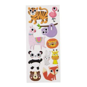 Kookie Sticker Sheet Puffy Eyes Animal