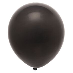 Party Inc Balloons Solid Colour Black 25cm 25 Pack