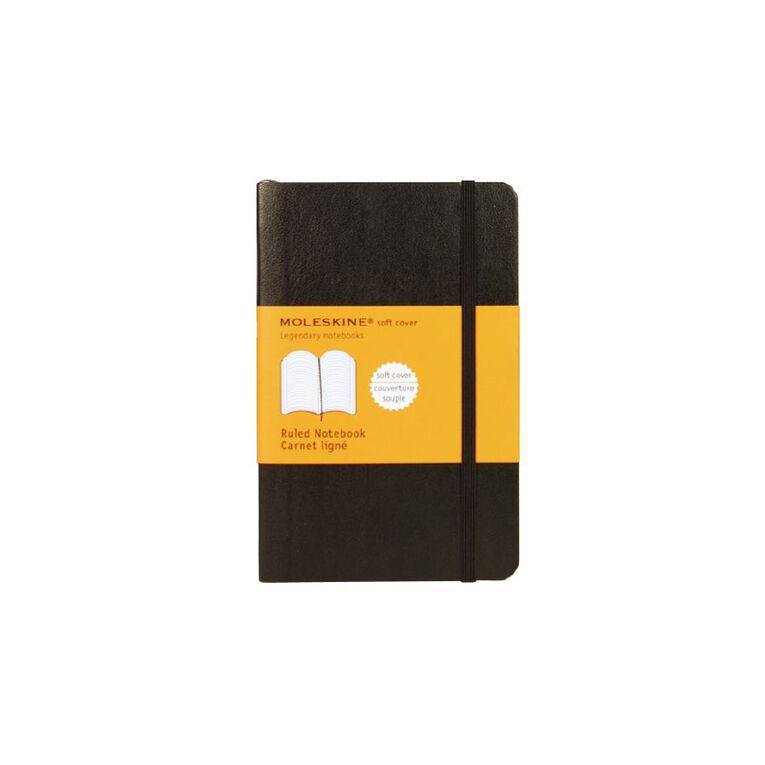 Moleskine Classic Soft Cover Notebook Ruled Black, , hi-res