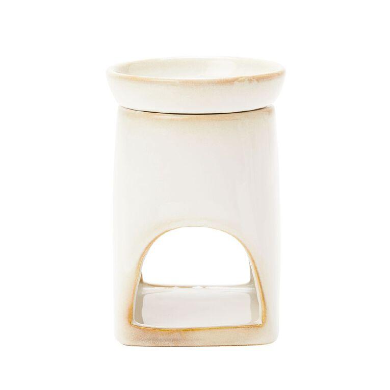 Living & Co Glazed Oil Burner Ivory, , hi-res