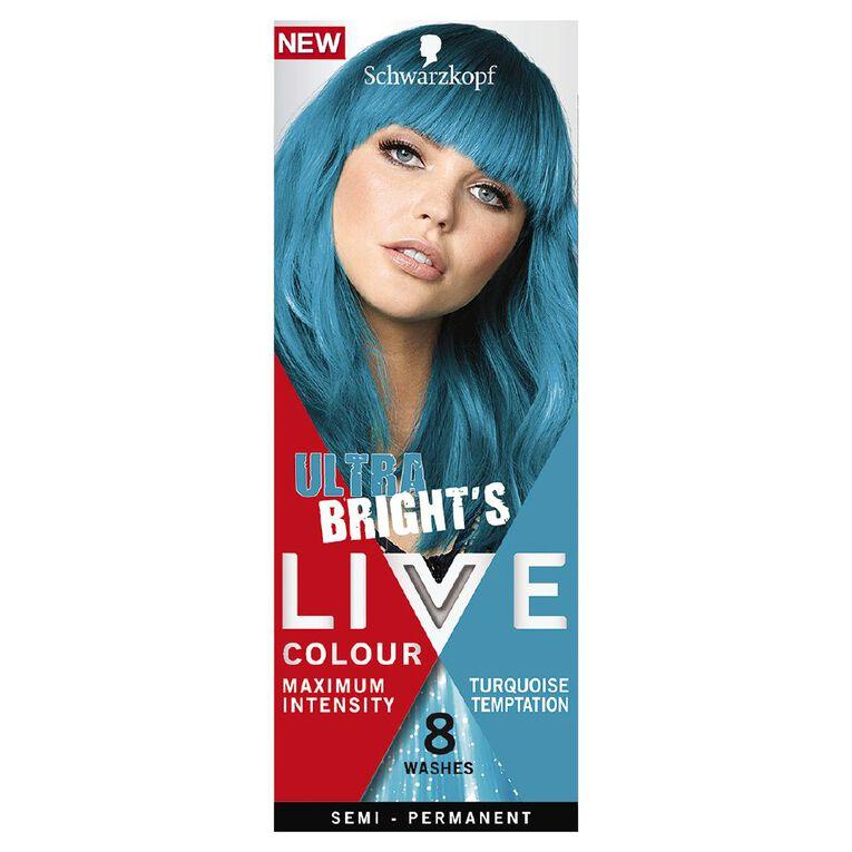 Schwarzkopf Live Colour Ultra Brights Turquoise Temptation, , hi-res