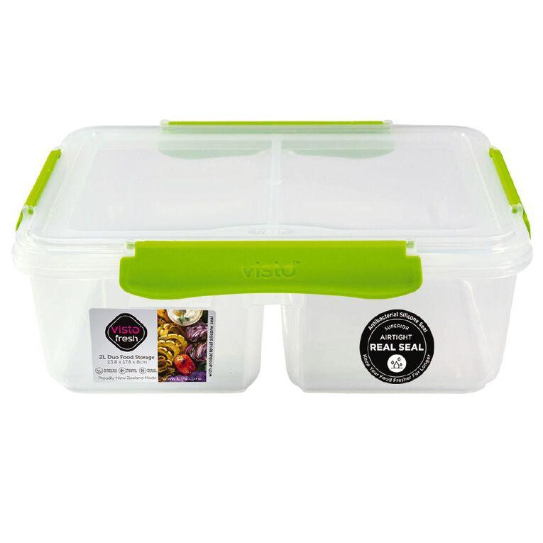 Visto Fresh Split Container Clear Assorted 2L, , hi-res