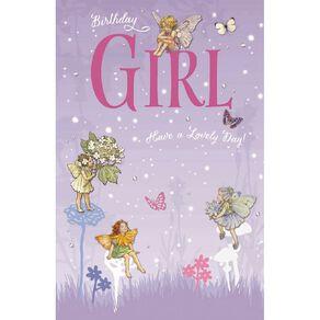 John Sands Juvenile Card Girl Flower Fairies Birthday Girl