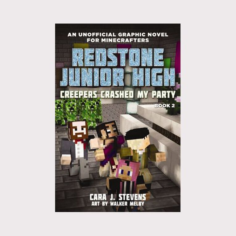 Redstone Junior High #2 Creepers Crashed My Party by Cara J Stevens, , hi-res