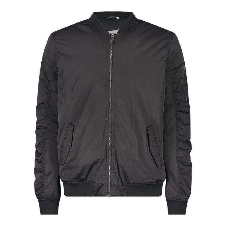 Garage Bomber Jacket, Black, hi-res