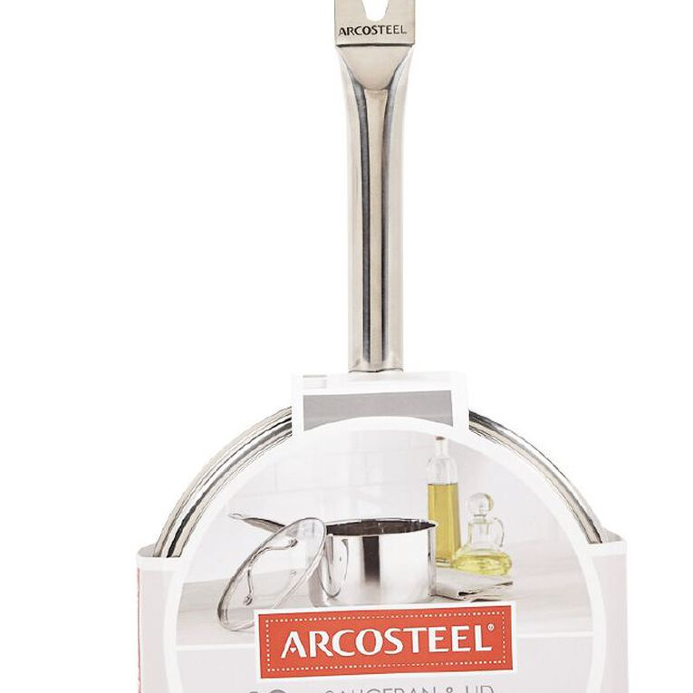 Arcosteel Chefs Choice Stainless Steel Saucepan Silver 18cm, , hi-res