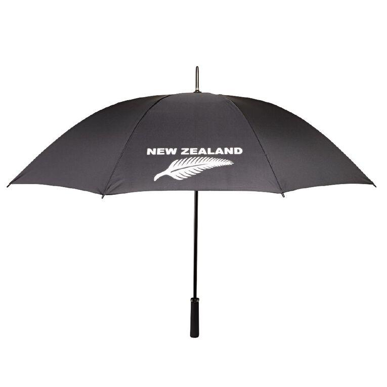 H&H NZ Fern Umbrella, Black, hi-res