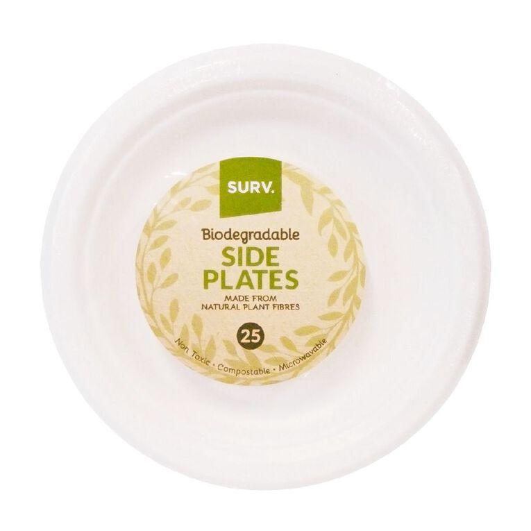SURV. Biodegradable Side Plates 18cm 25 Pack, , hi-res