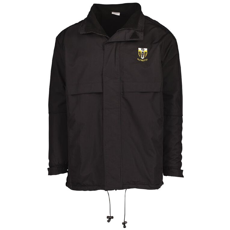 Schooltex Tikipunga High Anorak with Embroidery, Black, hi-res