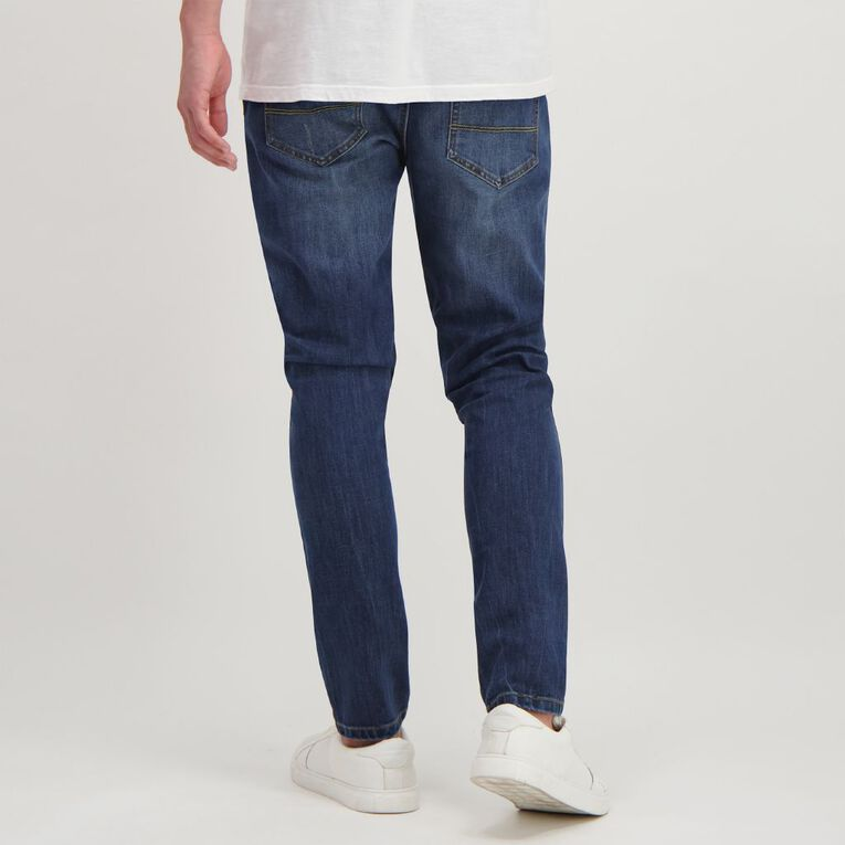 Garage Men's Abraised Skinny Jean, Denim Mid, hi-res