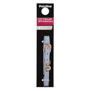 Petzone Leather Cat Collar Mint Adjustable 15-28cm