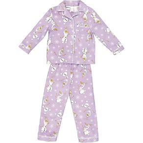 Frozen Disney Girls' Fleece Pyjamas