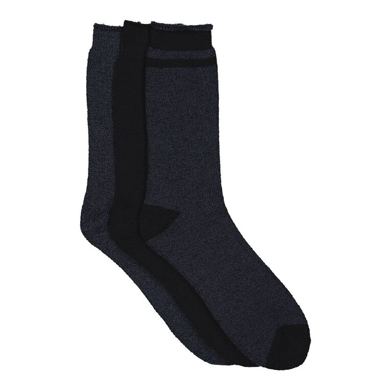 H&H Men's Thermal Socks 3 Pack, Blue Dark, hi-res image number null
