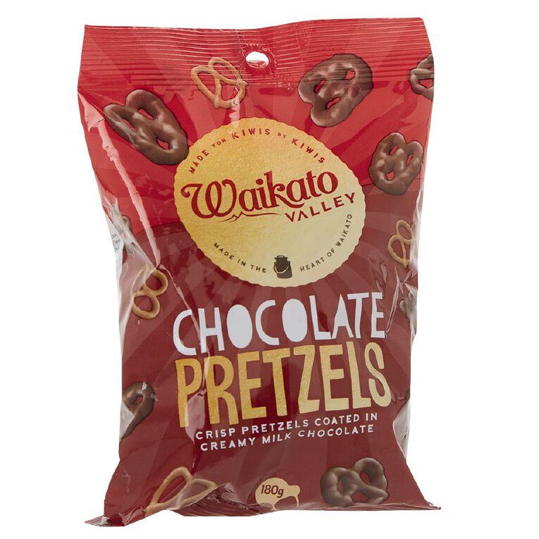Waikato Valley Chocolates Chocolate Pretzels 180g, , hi-res