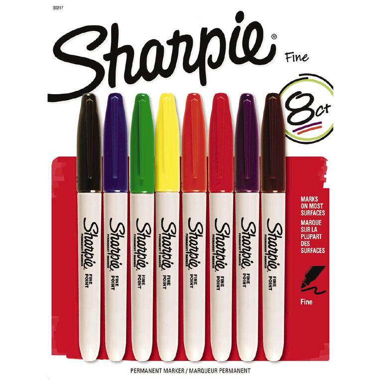 Sharpie Fine 8 Pack Mixed Assortment, , hi-res