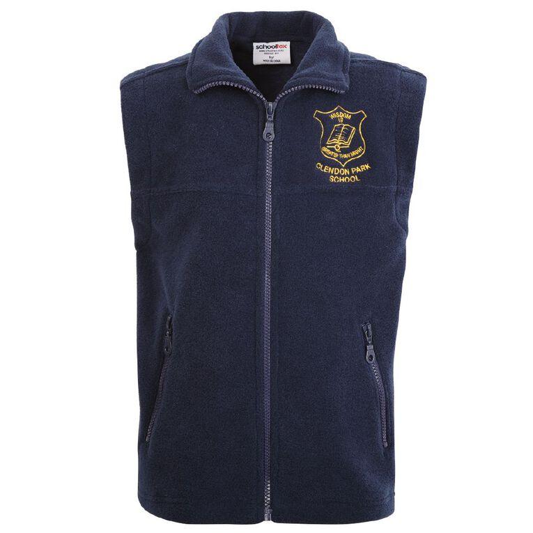 Schooltex Clendon Park  Polar Fleece Vest with Embroidery, Navy, hi-res