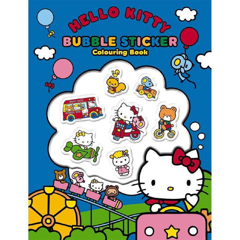 Hello Kitty Bubble Sticker Colouring Book, , hi-res