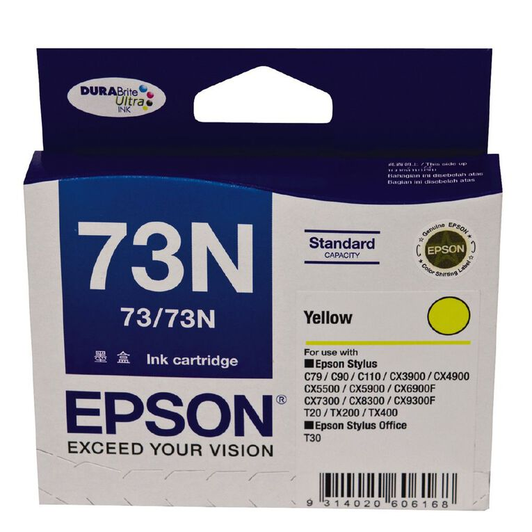 Epson Ink 73N Yellow (380 Pages), , hi-res