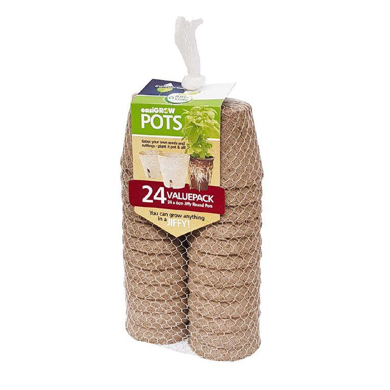 Jiffy Easi Grow Pots 6cm Round 24 Pack, , hi-res