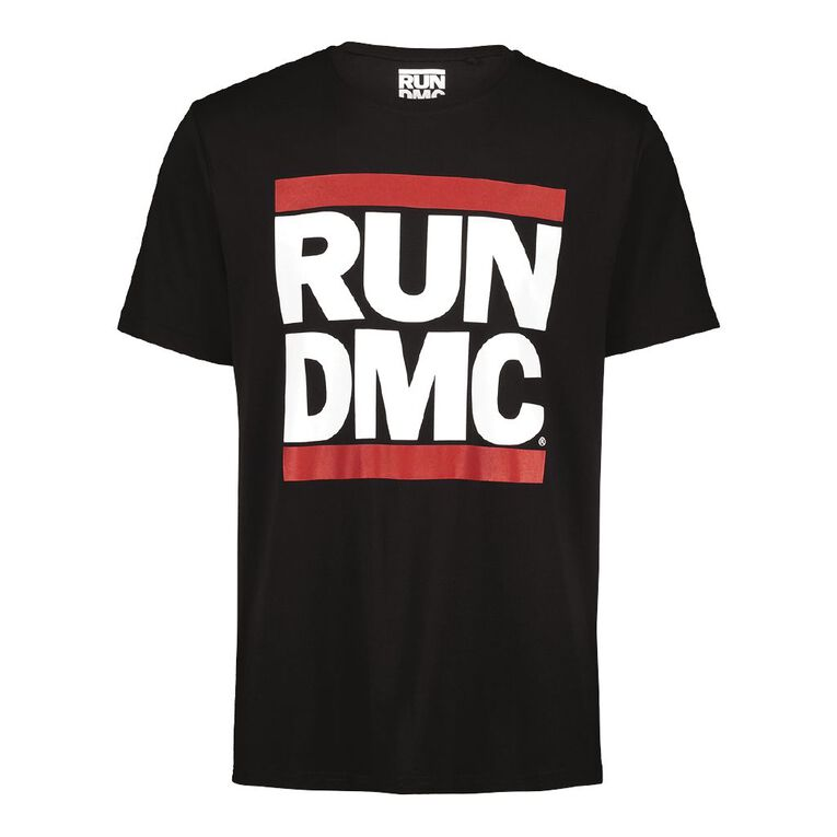 Run DMC Short Sleeve Tee, Black, hi-res