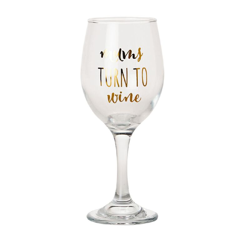 Living & Co Wine Glass Mums Turn To Wine, , hi-res