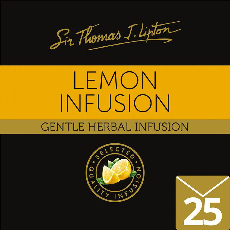 Lipton Sir Thomas Tea Bags Lemon 25 Pack, , hi-res
