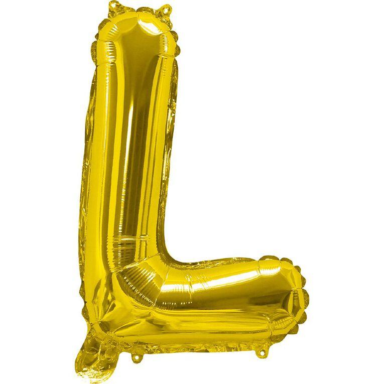 Artwrap Foil Balloon L Gold 35cm, , hi-res