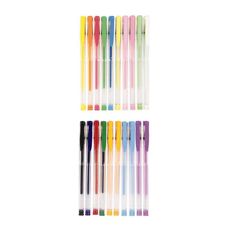 Deskwise Gel Pens Assortment Mixed Assortment 20 Pack, Mixed Assortment, hi-res