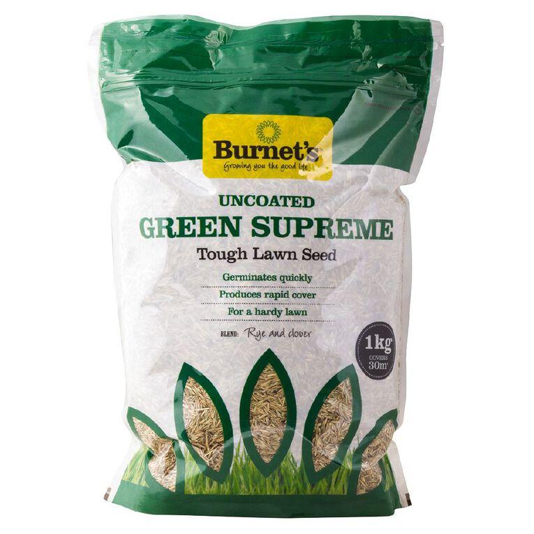 Burnet's Green Supreme Lawn Seed 1KG, , hi-res