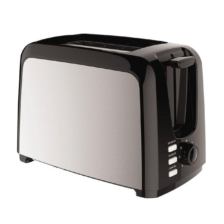 Living & Co Toaster Metal Side 2 Slice Black, , hi-res
