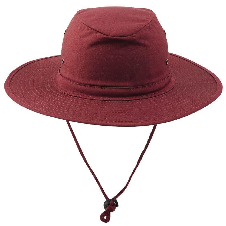 Schooltex Aussie Style Hat, Burgundy, hi-res