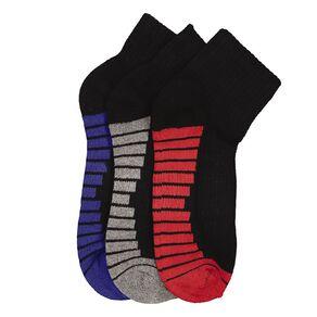 Underworks Kids' Quarter Crew Sport Socks 3 Pack