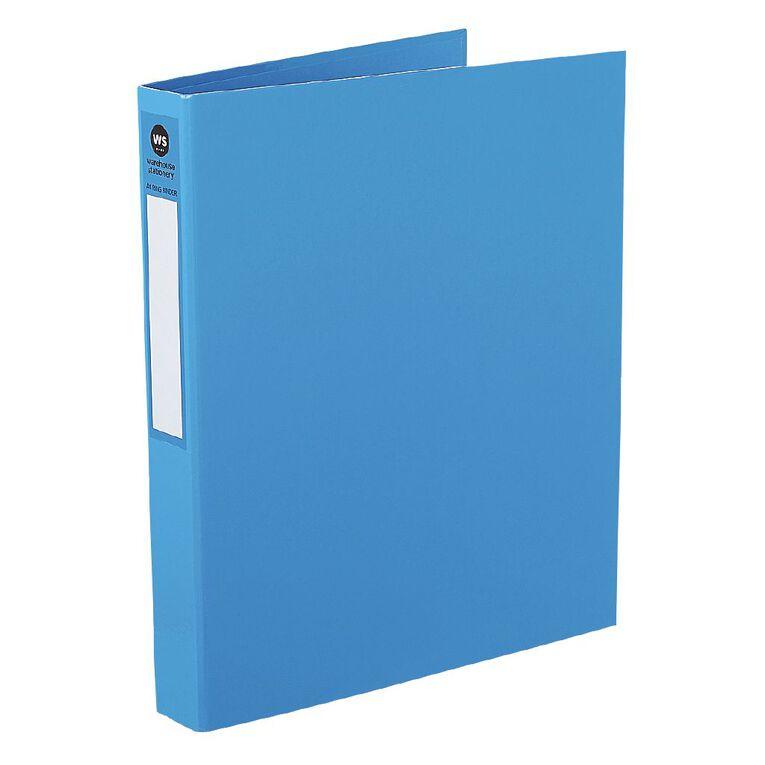 WS Ringbinder 2D 25mm Blue A4, , hi-res