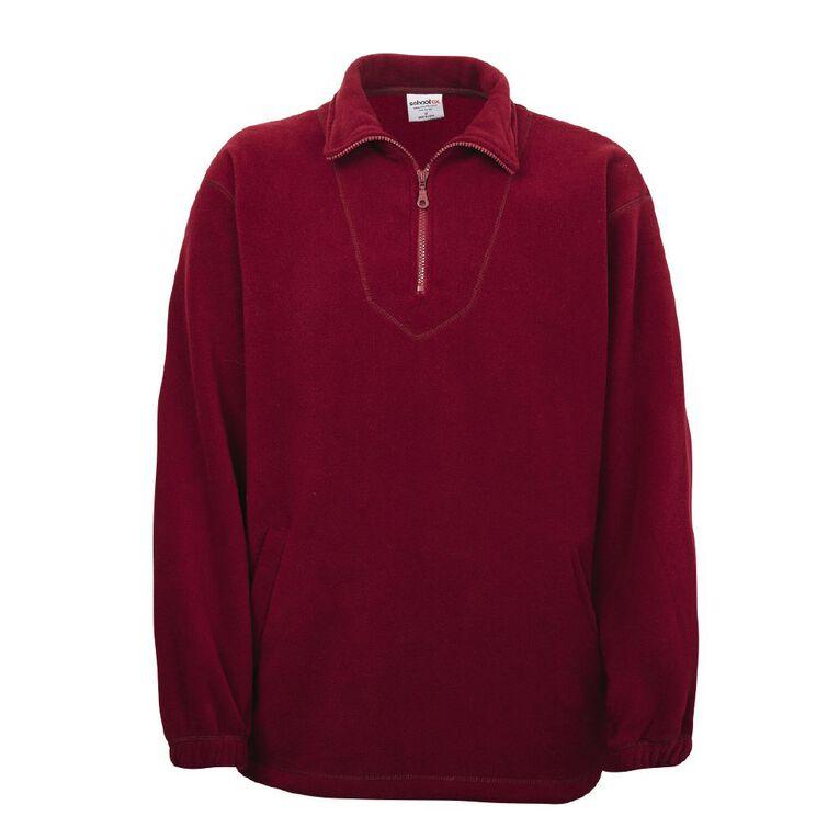 Schooltex Adults' Polar Fleece Top, Burgundy, hi-res