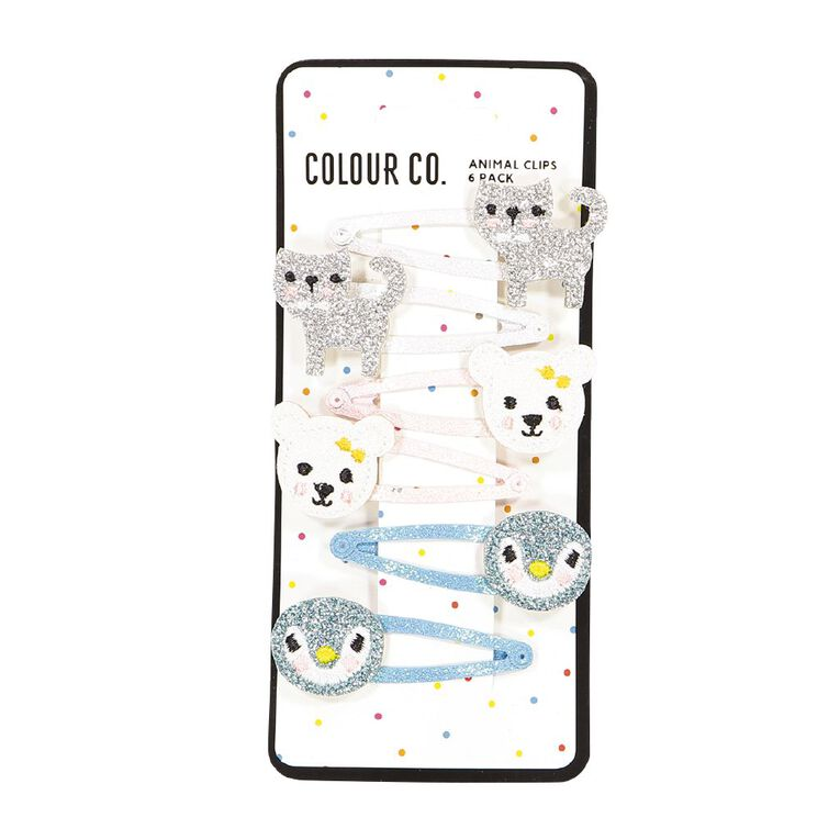 Colour Co. Animal Clips 6 Pack, , hi-res