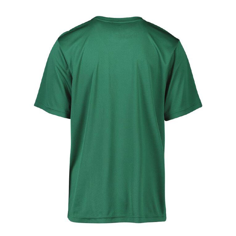 Active Intent Men's Cooldry Tee, Green Dark, hi-res