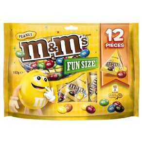 M&M's Peanut Chocolate Party Share Bag 12 piece 162g