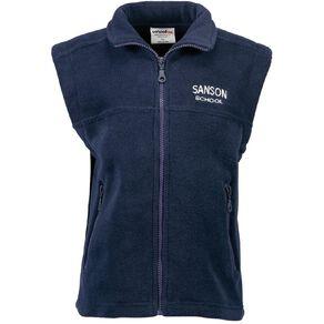 Schooltex Sanson Polar Fleece Vest with Embroidery