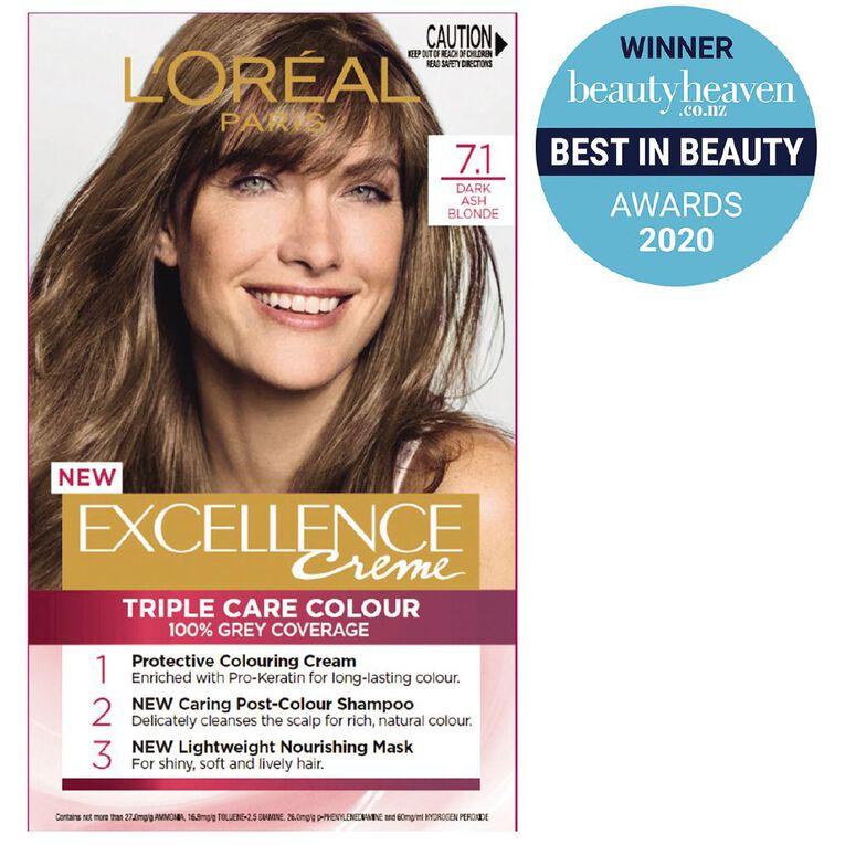 L'Oreal Paris Excellence 7.1 Dark Ash Blonde, , hi-res