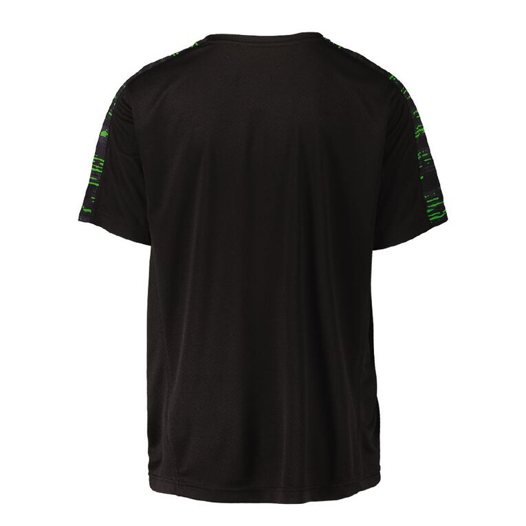 Active Intent Men's All Over Print Front Tee, Black, hi-res image number null