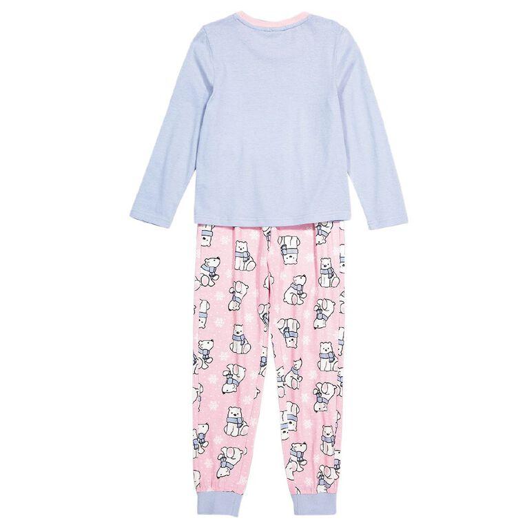 H&H Girls' Long Sleeve Pyjama, Blue, hi-res