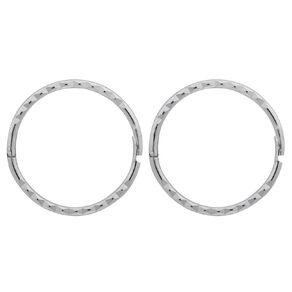 Sterling Silver Diamond Cut Sleeper Earrings 13mm