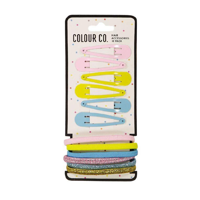 Colour Co. Hair Accessories Set Brights 12 Pack, , hi-res