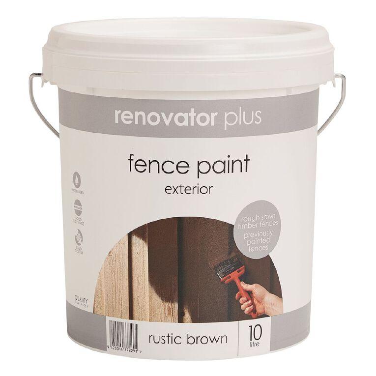 Renovator Plus Fence Paint Rustic Brown 10L, , hi-res