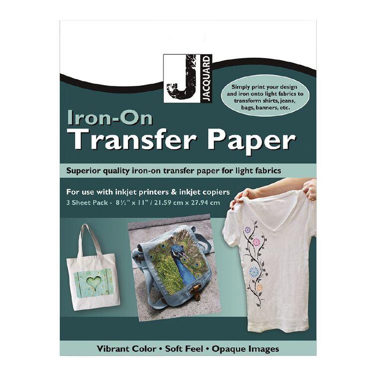 Jacquard Iron-On Transfer Paper 3 Pack, , hi-res