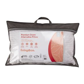 Living & Co Pillow Heavenly Comfort Luxury Down Alternative White